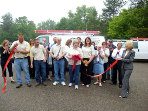 Ribbon Cutting for 75th anniversary