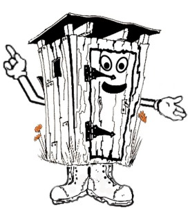 Outhouse man picture