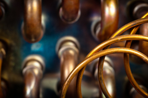 Copper piping picture