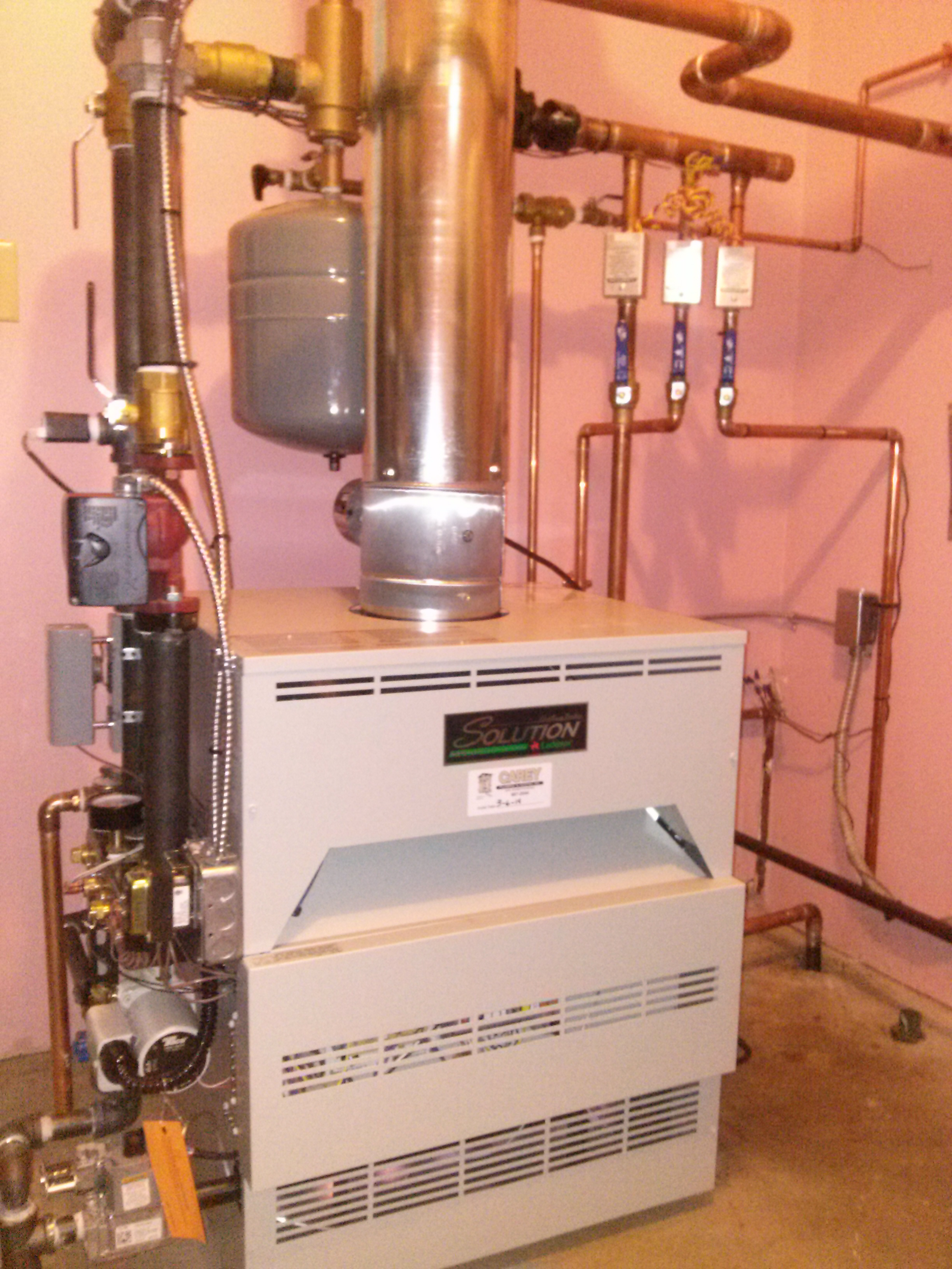 Boiler home heating installation and service