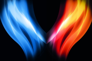 Fire and ice background